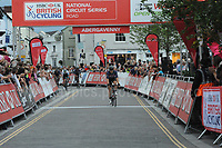 The 2017 Abergavenny Festival of Cycling on Friday 7th July 2017 - <br /> <br /> Crossing the line in 2nd place is Matthew Gibson of the JLT Condor racing team. <br /> <br /> Jeff Thomas Photography<br /> www.jaypics.photoshelter.com<br /> e-mail swansea1001@hotmail.co.uk<br /> Mob: 07837 386244