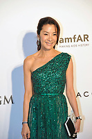 HONG KONG - MARCH 14:  Michelle Yeoh arrives on the red carpet during the 2015 amfAR Hong Kong gala at Shaw Studios on March 14, 2015 in Hong Kong. Photo : Lucas Schifres/Abaca  (Photo by Lucas Schifres/Lucas Schifres)