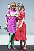 "19-12-2018 Madrid Queen Letizia and Agatha Ruiz de la Prada during the 5th edition of the national fashion industry prizes, "" Nacionales de la Industria de la Moda "" at the costume museum in Madrid.<br /> <br /> .<br /> <br /> ."