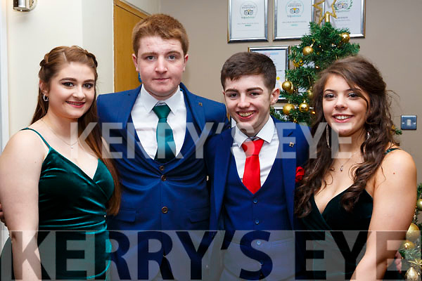 Attending the Mercy Mounthawk Debs at the Ballyroe Heights Hotel on Thursday night last, l to r, Sasha Godley (Tarbert), Thomas White (Tralee), Matthew Moriarty (Tralee) and Marian Knightly (Tralee).