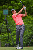 Jordan Spieth (USA) watches his tee shot on 8 during round 2 of the 2019 Charles Schwab Challenge, Colonial Country Club, Ft. Worth, Texas,  USA. 5/24/2019.<br /> Picture: Golffile   Ken Murray<br /> <br /> All photo usage must carry mandatory copyright credit (© Golffile   Ken Murray)