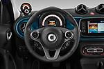 Car pictures of steering wheel view of a 2020 Smart EQ-forfour Comfort-Plus 5 Door Hatchback Steering Wheel