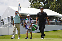 Kevin Kisner (USA) and Patrick Reed (USA) make their way down 13 during round 2 of the WGC FedEx St. Jude Invitational, TPC Southwind, Memphis, Tennessee, USA. 7/26/2019.<br /> Picture Ken Murray / Golffile.ie<br /> <br /> All photo usage must carry mandatory copyright credit (© Golffile | Ken Murray)