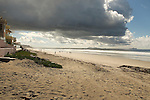 Imperial Beach looking South toward the Coronado Islands in Mexico