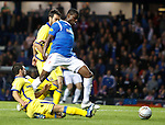 Maurice Edu surges through the Kilmarnock defence to set up Gregg Wylde's goal