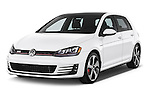 2015 Volkswagen GTI DSG SE PZEV 5 Door Hatchback Angular Front stock photos of front three quarter view