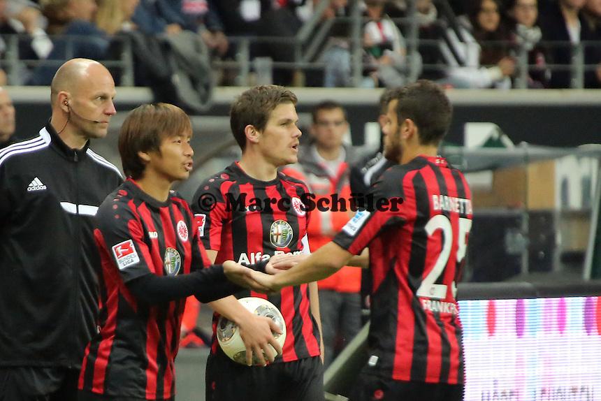 Takashi Inui (Eintracht) kommt für Tranquillo Barnetta - Eintracht Frankfurt vs. Hamburger SV, Commerzbank Arena