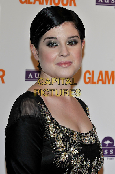 KELLY OSBOURNE.Glamour Women of the Year Awards 2008.inside arrivals at Berkeley Square Gardens, London, England  3rd June 2008.portrait headshot black gold .CAP/PL.©Phil Loftus/Capital Pictures