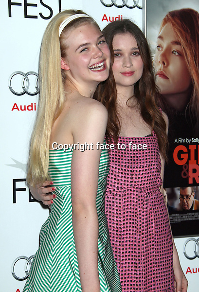 Elle Fanning, Alice Englert attending the special screening for Ginger And Rosa at The 2012 AFI Film Fest at Grauman's Chinese Theatre in Hollywood, CA on November 7, 2012..Credit: StarMaxInc/face to face - Hungary, Bulgaria, Croatia, Russia, Romania and Moldavia, Slovakia, Slovenia, Bosnia & Herzegowina, Serbia, Ukraine and Belaurus, Lithuania, Latvia, Estonia, Australia, Spain, Taiwan, Singapore, China, Malaysia and Thailand rights only -
