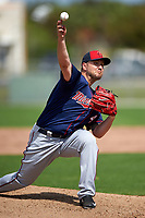 Minnesota Twins pitcher Kevin Jepsen (49) during a Spring Training practice on March 1, 2016 at Hammond Stadium in Fort Myers, Florida.  (Mike Janes/Four Seam Images)