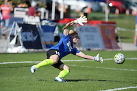 Kansas City, MO - Saturday July 16, 2016: Cat Parkhill prior to a regular season National Women's Soccer League (NWSL) match between FC Kansas City and the Washington Spirit at Swope Soccer Village.