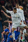 Real Madrid's Cristiano Ronaldo Raphael Varane  during the match of La Liga between Atletico de Madrid and Real Madrid at Vicente Calderon Stadium  in Madrid , Spain. November 19, 2016. (ALTERPHOTOS/Rodrigo Jimenez)