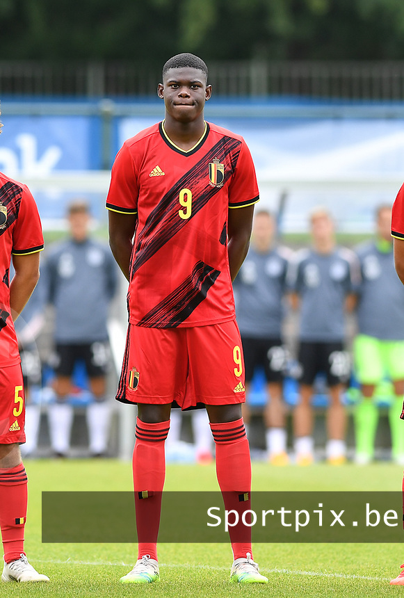 Belgian Mitchy Ntelo pictured during a friendly soccer game between the national teams Under19 Youth teams of Belgium and Germany on tuesday 8 th of September 2020  in Genk , Belgium . PHOTO SPORTPIX.BE | SPP | DAVID CATRY