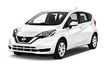 2017 Nissan Versa-Note S-Plus 5 Door Hatchback Angular Front stock photos of front three quarter view