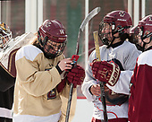 Molly Slowe (BC - 14), Serena Sommerfield (BC - 3) - The Boston College Eagles practiced at Fenway on Monday, January 9, 2017, in Boston, Massachusetts.Molly Slowe (BC - 14), Serena Sommerfield (BC - 3) - The Boston College Eagles practiced at Fenway on Monday, January 9, 2017, in Boston, Massachusetts.