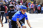 Dmitriy Kozontchuk (RUS) Gazprom-Rusvelo heads to sign on at Arbatax before the start of Stage 3 of the 100th edition of the Giro d'Italia 2017, running 148km from Tortoli to Cagliari, Sardinia, Italy. 7th May 2017.<br /> Picture: Eoin Clarke | Cyclefile<br /> <br /> <br /> All photos usage must carry mandatory copyright credit (&copy; Cyclefile | Eoin Clarke)