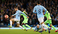 Manchester City's Bernardo Silva controls<br /> <br /> Photographer Rich Linley/CameraSport<br /> <br /> UEFA Champions League Round of 16 Second Leg - Manchester City v FC Schalke 04 - Tuesday 12th March 2019 - The Etihad - Manchester<br />  <br /> World Copyright © 2018 CameraSport. All rights reserved. 43 Linden Ave. Countesthorpe. Leicester. England. LE8 5PG - Tel: +44 (0) 116 277 4147 - admin@camerasport.com - www.camerasport.com
