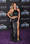 HOLLYWOOD, CA - JANUARY 29: Actor Meagan Good attends the premiere of Disney and Marvel's 'Black Panther' at  the Dolby Theater on January 28, 2018 in Hollywood, California.