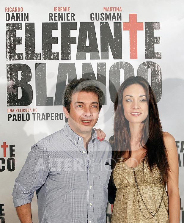 Actors Martina Gusman and Ricardo Darin attend a photocall for 'Elefante Blanco' at Casa de America on July 4, 2012 in Madrid, Spain. (ALTERPHOTOS/Alconada)