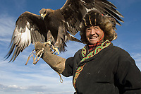 Men at the Altai eagle festival