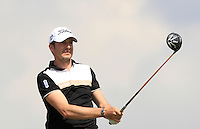 Simon Thornton (IRL) on the 2nd tee during Round 1 of the Challenge de Madrid, a Challenge  Tour event in El Encin Golf Club, Madrid on Wednesday 22nd April 2015.<br /> Picture:  Thos Caffrey / www.golffile.ie