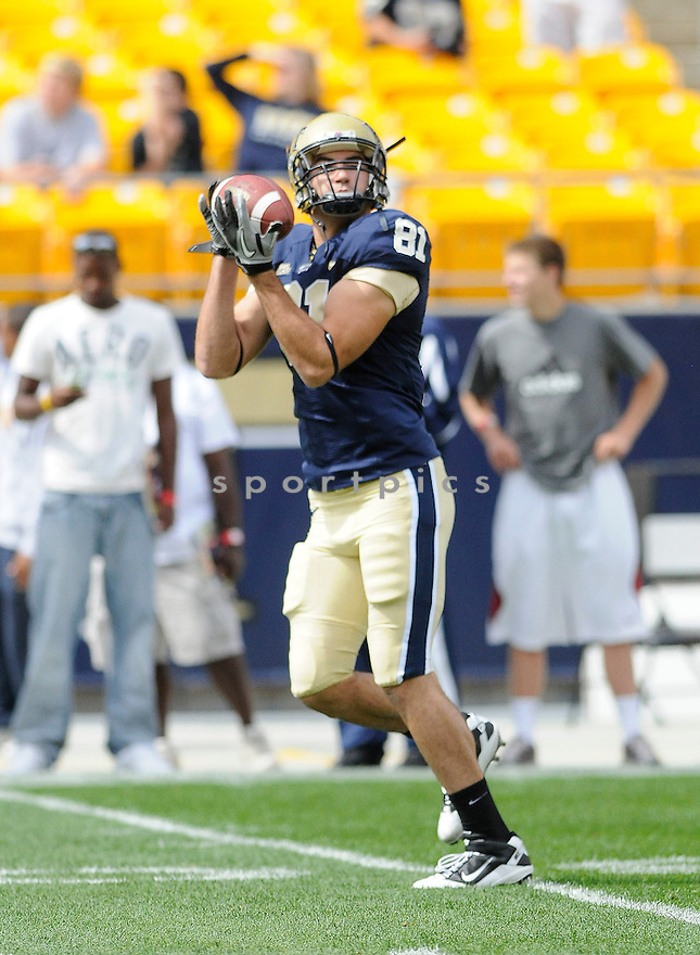 BROCK DECICCO, of Pitt, in action during the Panthers game against the New Hampshire Wildcats on September 11, 2010 in Pittsburgh, Pennsylvania...Pitt won the game 38-16..