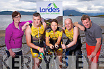 Emma Landers, Landers Outdoor World, Pio Boyle, Jackie Ruttledge, Damian Morrison, Tralee Triathlon Club and Mike O'Neill, Fenit Development Association, launch the Landers Tralee Triathlon on 9th August in Fenit