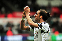 Swansea v Norwich, Liberty stadium Swansea, Saturday 29th March 2014<br /> <br /> Photographs by Amy Husband<br /> <br /> Swansea's Chico Flores leaving the field after beating Norwich 3-0