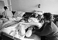- Goradze (Bosnia-Herzegovina), Muslim enclave for long time besieged  by Serb troops; the hospital (January 1996)<br /> <br /> - Goradze ( Bosnia-Herzegovina) , enclave musulmana a lungo assediata dalle truppe serbe; l'ospedale (gennaio 1996)