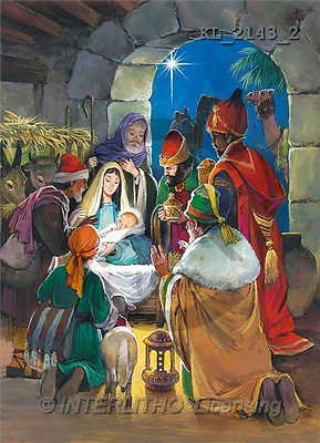 Interlitho, Mercedes, HOLY FAMILIES, paintings, hl.fam, 3 kings(KL2143/2,#XR#)