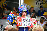 Aussie fan at the finish of Stage 11 of the 104th edition of the Tour de France 2017, running 203.5km from Eymet to Pau, France. 12th July 2017.<br /> Picture: ASO/Bruno Bade | Cyclefile<br /> <br /> <br /> All photos usage must carry mandatory copyright credit (&copy; Cyclefile | ASO/Bruno Bade)