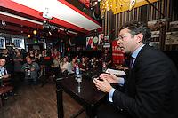 POLITIEK: HEERENVEEN: Café 't Houtsje, 23-10-2013, Politiek Café, Minister Jeroen Dijsselbloem, ©foto Martin de Jong