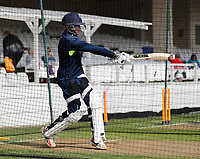 Daniel Bell-Drummond net practice during the County Championship Division 2 game between Kent and Gloucestershire at the St Lawrence Ground, Canterbury, on Fri 13 Apr, 2018.