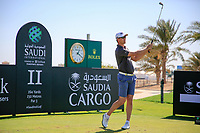 Victor Perez (FRA) on the 11th tee during the Pro-Am at the Saudi International powered by Softbank Investment Advisers, Royal Greens G&CC, King Abdullah Economic City,  Saudi Arabia. 29/01/2020<br /> Picture: Golffile | Fran Caffrey<br /> <br /> <br /> All photo usage must carry mandatory copyright credit (© Golffile | Fran Caffrey)