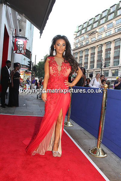 NON EXCLUSIVE PICTURE: GRAHAM READING / MATRIXPICTURES.CO.UK<br /> PLEASE CREDIT ALL USES<br /> <br /> WORLD RIGHTS<br /> <br /> English actress Chelsee Healey is pictured wearing an elaborate red evening gown as she attends the Gracious Alma Charity Ball, in aid of Diabetes UK, at Cafe de Paris in Central London.<br />  <br /> AUGUST 30th 2013<br /> <br /> REF: GRG 135765