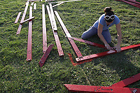 Setting up for the NW Washington Fair. August 16, 2009 PHOTOS BY MERYL SCHENKER            .