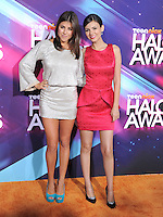 Daniella Monet and Victoria Justice at the TeenNick HALO Awards held at The Palladium in Hollywood, California on November 17,2012                                                                               © 2012 Debbie VanStory/ iPhotoLive.com