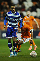 Reading's Jordan Obita under pressure from Blackpool's Nathan Delfouneso<br /> <br /> Photographer Kevin Barnes/CameraSport<br /> <br /> Emirates FA Cup Third Round Replay - Blackpool v Reading - Tuesday 14th January 2020 - Bloomfield Road - Blackpool<br />  <br /> World Copyright © 2020 CameraSport. All rights reserved. 43 Linden Ave. Countesthorpe. Leicester. England. LE8 5PG - Tel: +44 (0) 116 277 4147 - admin@camerasport.com - www.camerasport.com