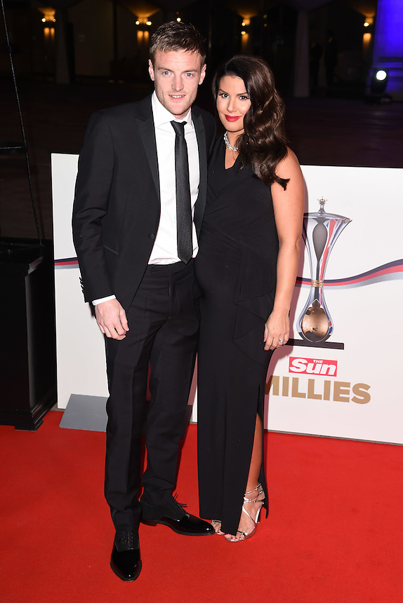 Jamie Vardy<br /> at the Millies 2016, Guildhall, London.<br /> <br /> <br /> ©Ash Knotek  D3212  14/12/2016
