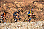 The breakaway group featuring Brian Van Goethem (NED) Roompot-Nederlandse Loterij, Conor Dunne (IRL) Aqua Blue Sport, Maxime Farazijn (BEL)Sport Vlaanderen-Baloise during Stage 1 of the 2018 Tour of Oman running 162.5km from Nizwa to Sultan Qaboos University. 13th February 2018.<br /> Picture: ASO/Muscat Municipality/Kare Dehlie Thorstad | Cyclefile<br /> <br /> <br /> All photos usage must carry mandatory copyright credit (&copy; Cyclefile | ASO/Muscat Municipality/Kare Dehlie Thorstad)