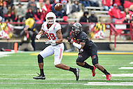 College Park, MD - NOV 26, 2016: Rutgers Scarlet Knights wide receiver Andre Patton (88) is focused on the ball before the catch during the game between Maryland and Rutgers at Capital One Field at Maryland Stadium in College Park, MD. Maryland defeated Rutgers 31-13. (Photo by Phil Peters/Media Images International)