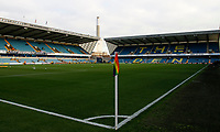 A general view of the stadium still displaying the Stonewall Rainbow Laces corner flag during the Sky Bet Championship match between Millwall and Sheff United at The Den, London, England on 2 December 2017. Photo by Carlton Myrie / PRiME Media Images.