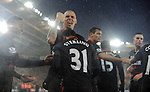 Raheem Sterling of Liverpool celebrates scoring his goal to make it 2-0 with team mate Martin Skrtel of Liverpool - Barclays Premier League - Southampton vs Liverpool - St Mary's Stadium - Southampton - England - 22nd February 2015 - Pic Robin Parker/Sportimage