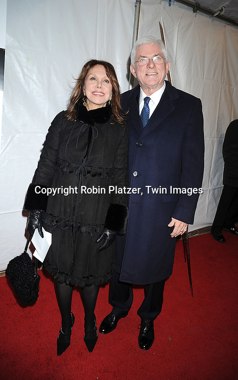 "Marlo Thomas and Phil Donahue..attending The New York Premiere of ""Doubt"" starring ..Meryl Streep, Philip Seymour Hoffman, Viola Davis, Amy Adams and written and directed by John Patrick Shanley on December 7, 2008 at The Paris Theatre in New York City.....Robin Platzer, Twin Images"