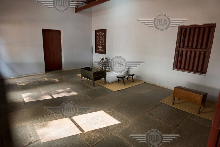 The room in Mahatma Gandhi's house where he received visitors at the Sabarmati Ashram in Ahmedabad. Gandhi and his wife Kasturba lived here for about twelve years. It was from here that Gandhi masterminded much of the struggle for Indian independence, and began the famous Salt March in 1930.