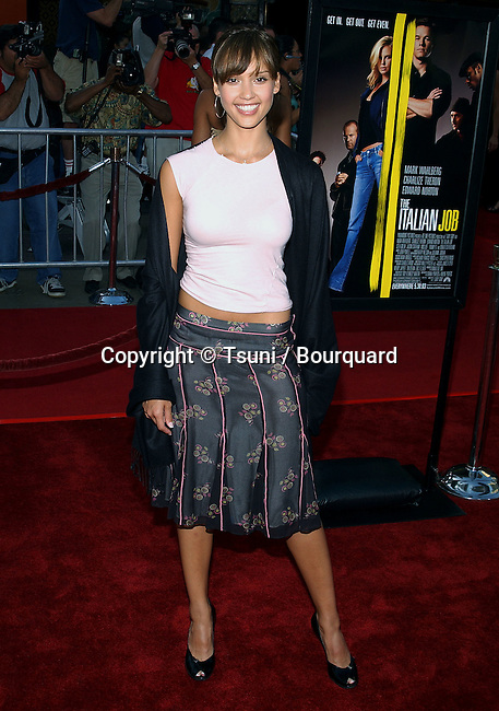"Jessica Alba arriving at the Premiere of "" The Italian Job "" at the Chinese Theatre in Los Angeles. May 27, 2003."