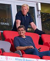 13th June 2020, Allianz Erena, Munich, Germany; Bundesliga football, Bayern Munich versus Borussia Moenchengladbach; Hans Mayer and Oliver KAHN, future FCB CEO