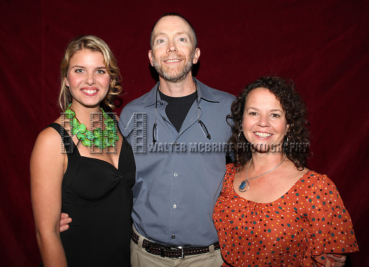 Actress Anna Stromberg, Actor Mike O'Neil, Actress Michelle Gagliano at The Red Barn Studio Theatre Off-Broadway production of 'Positions' at the Roy Arias Studio Theatre on October 10, 2012 in New York City.