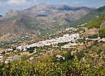 Pueblos Blancos white village of Alcaucin, Malaga province, Spain
