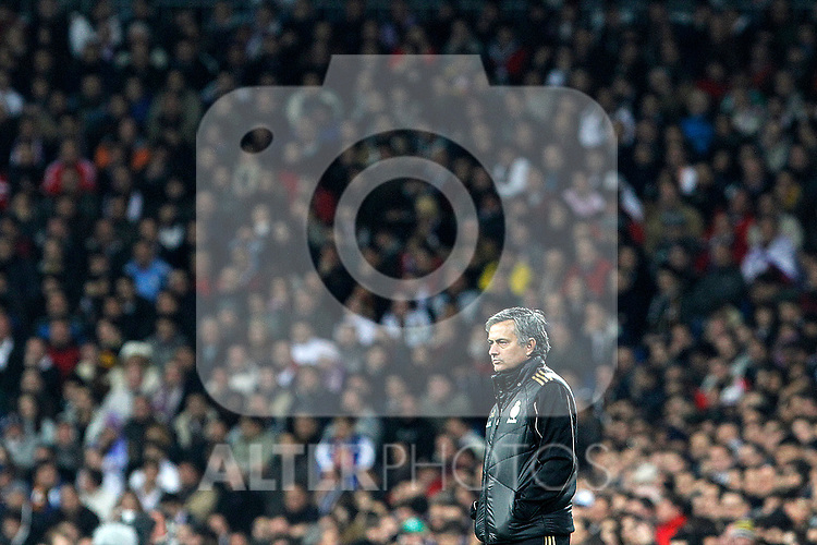 Real Madrid's coach Jose Mourinho during Spanish King's Cup match.January 18,2011. (ALTERPHOTOS/Acero)